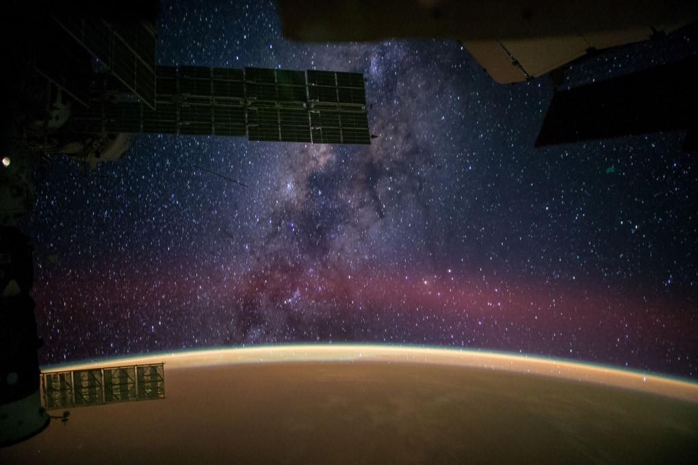 La Via Lattea, Marte e la Terra viste dalla ISS
