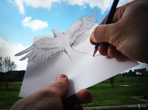 Illusioni di carta: i disegni di Alessandro Diddi