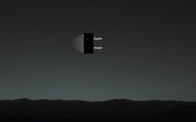 Curiosity fotografa la Terra e la Luna da Marte
