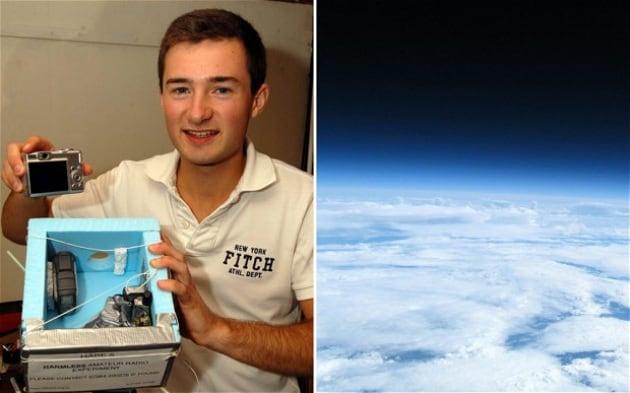 19 anni e pochi euro per scattare foto dallo spazio