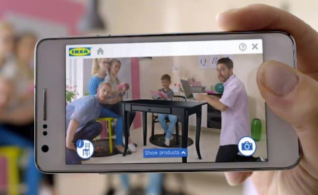 inquadri con smartphone e tablet e voil si il prodotto ikea