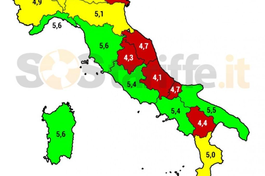 Banda larga in Italia: Sud batte Centro-Nord