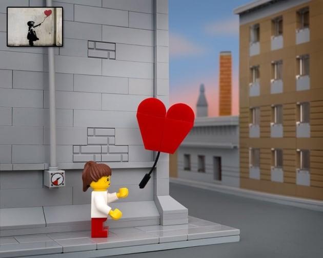I graffiti di Banksy ricostruiti con i Lego