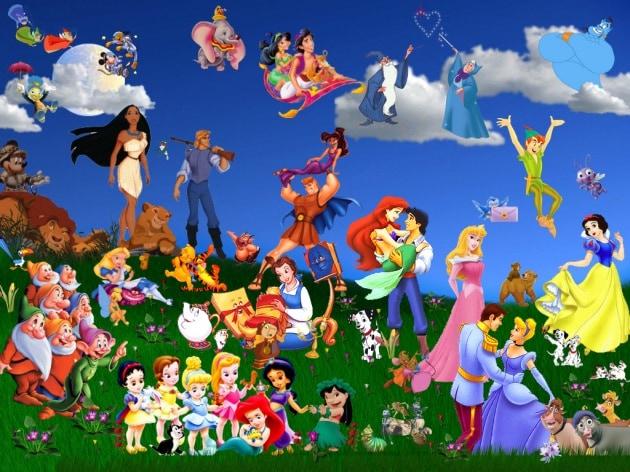 La mappa dei cartoni animati della Disney
