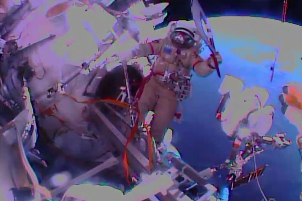 La Torcia olimpica nello spazio