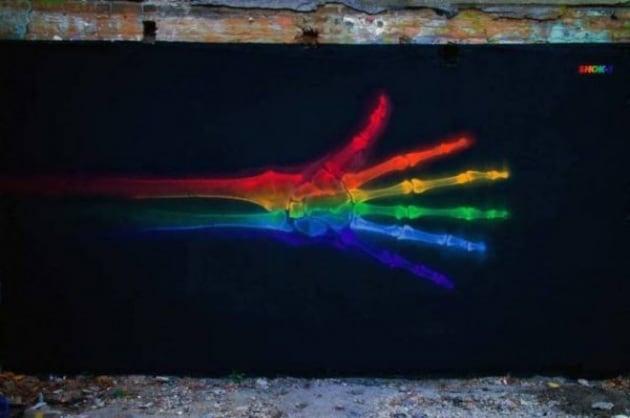 Street art o raggi X?