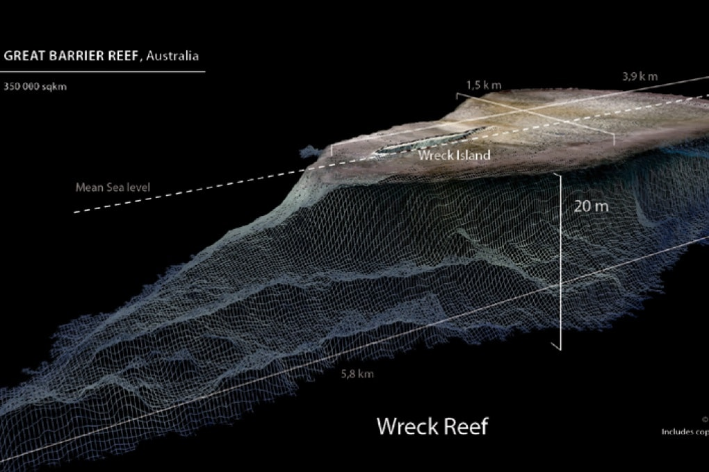 Le mappe 3D della Grande Barriera Corallina
