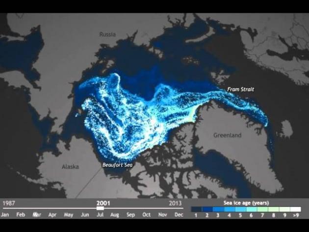 25 anni di scioglimento dei ghiacci del Polo Nord