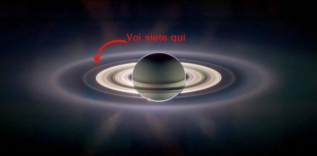 Sorridete, Cassini ci fa una foto con Saturno