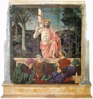 Resurrezione, un affresco di Pietro della Francesca