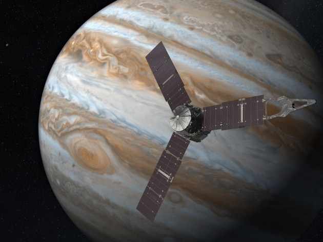 Juno in prossimità di Giove
