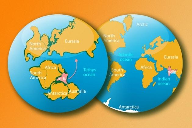 India, Asia, Nepal: scontro tra continenti