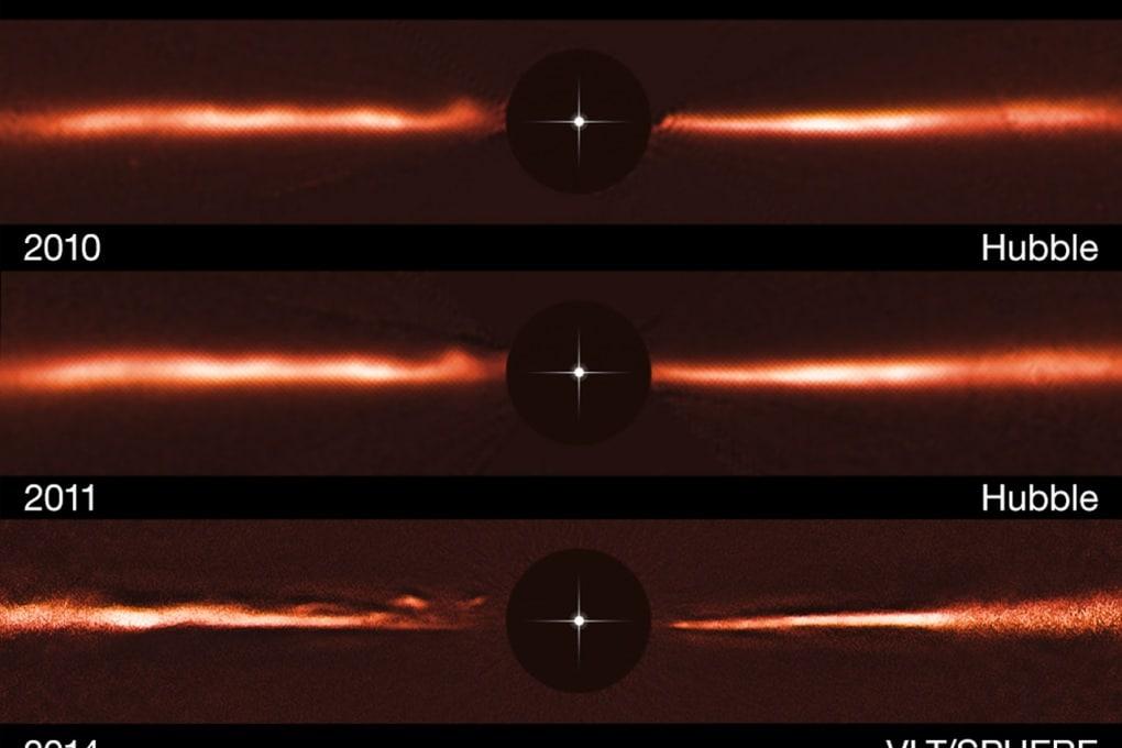 Misteriose strutture in un disco protoplanetario
