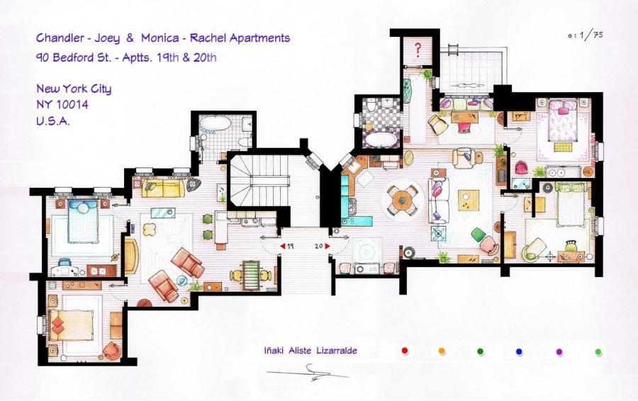 Le piantine delle case di serie e film famosi for Planimetrie con stanze segrete