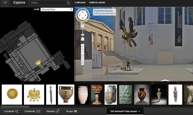 Visitare il British Museum con Street View