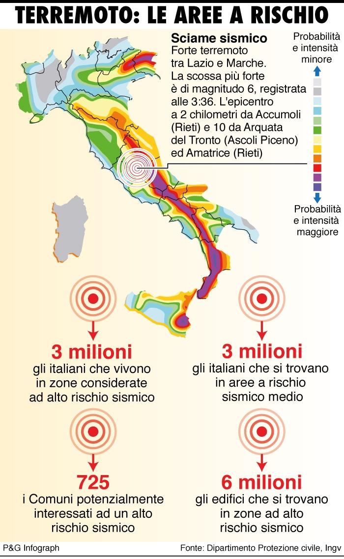 L 39 italia del terremoto for Rischio sismico in italia