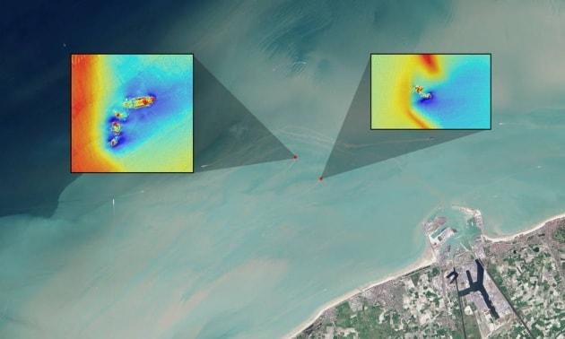 I satelliti Landsat usati per localizzare relitti sui fondali marini