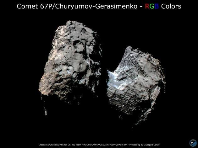 67P/Churyumov-Gerasimenko cambia colore
