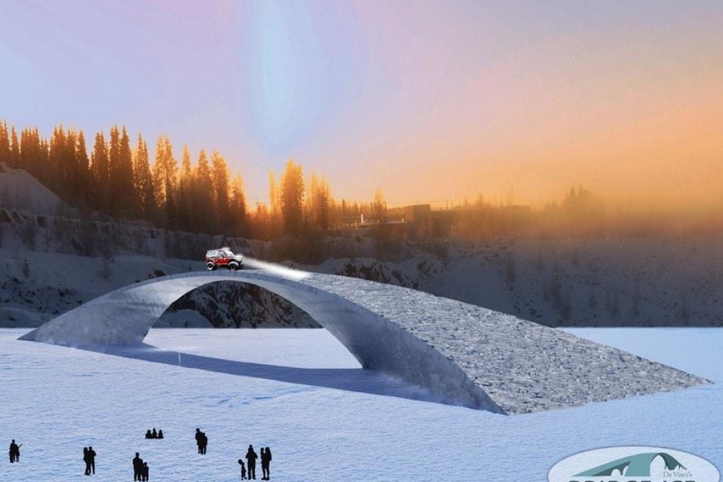 Il ponte di ghiaccio più lungo del mondo