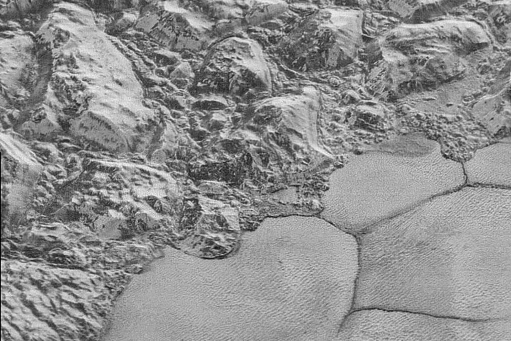 Plutone visto a volo d'uccello