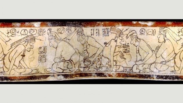 Cinque esempi di fumetti Maya