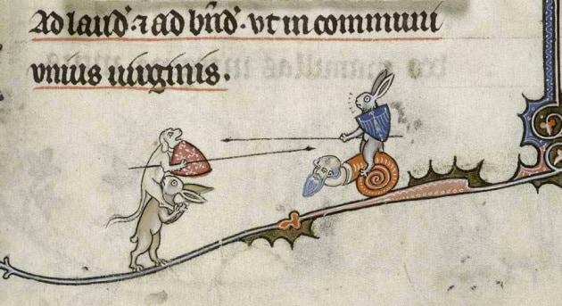 I conigli assassini dei manoscritti medievali