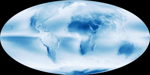 La mappa delle nuvole terrestri