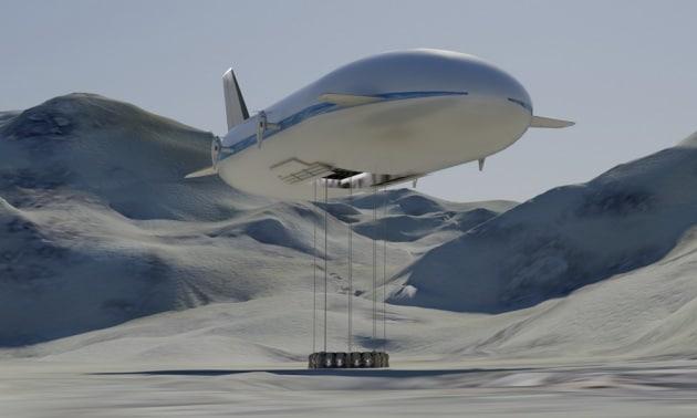 Un dirigibile per trasportare merci