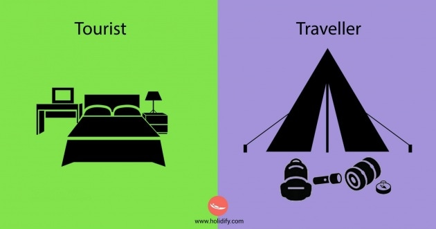 Le differenze tra turisti e viaggiatori