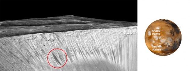Guida fotografica alla scoperta dell'acqua su Marte