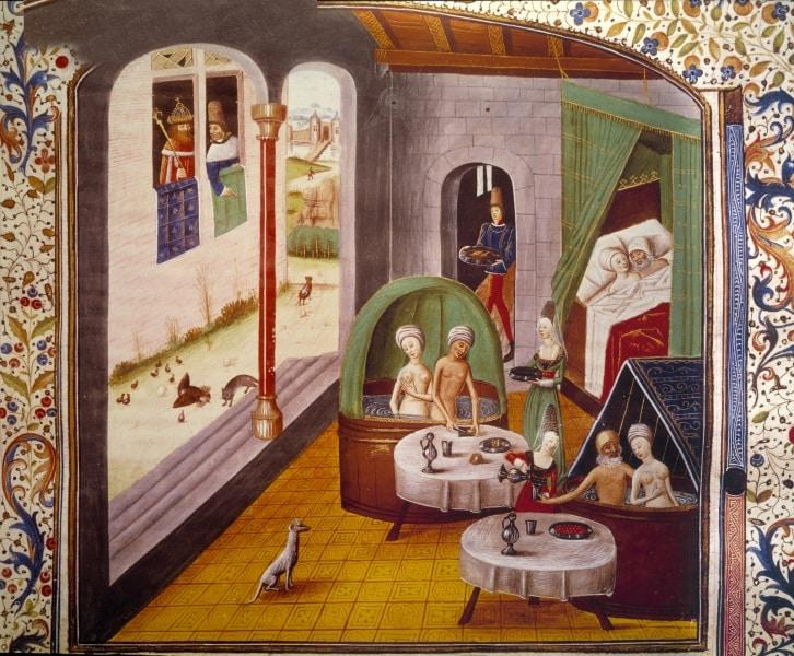 11 cose che forse non sai sul sesso nel medioevo - Donne al bagno pubblico ...