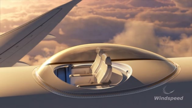 L'oblò super panoramico per aerei