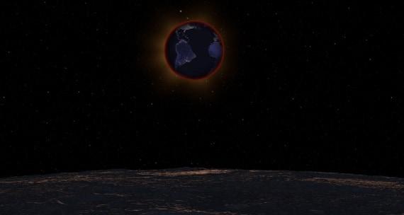 Come appare un'eclissi di Luna... dalla Luna