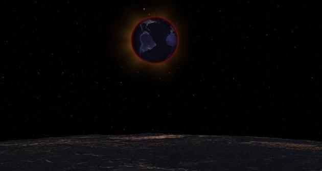 L'eclissi lunare del 28 settembre... vista dalla Luna