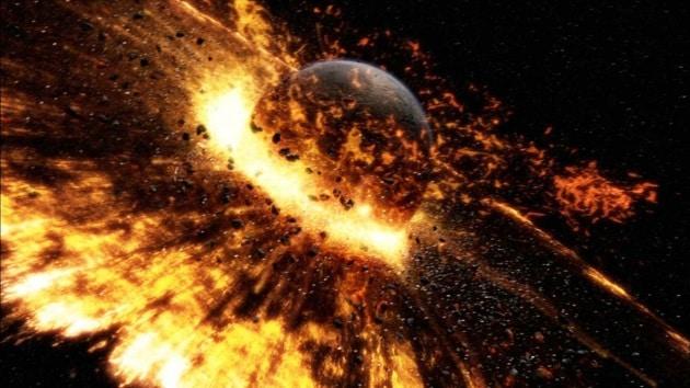 La Luna è frutto dello scontro frontale tra Terra e Theia