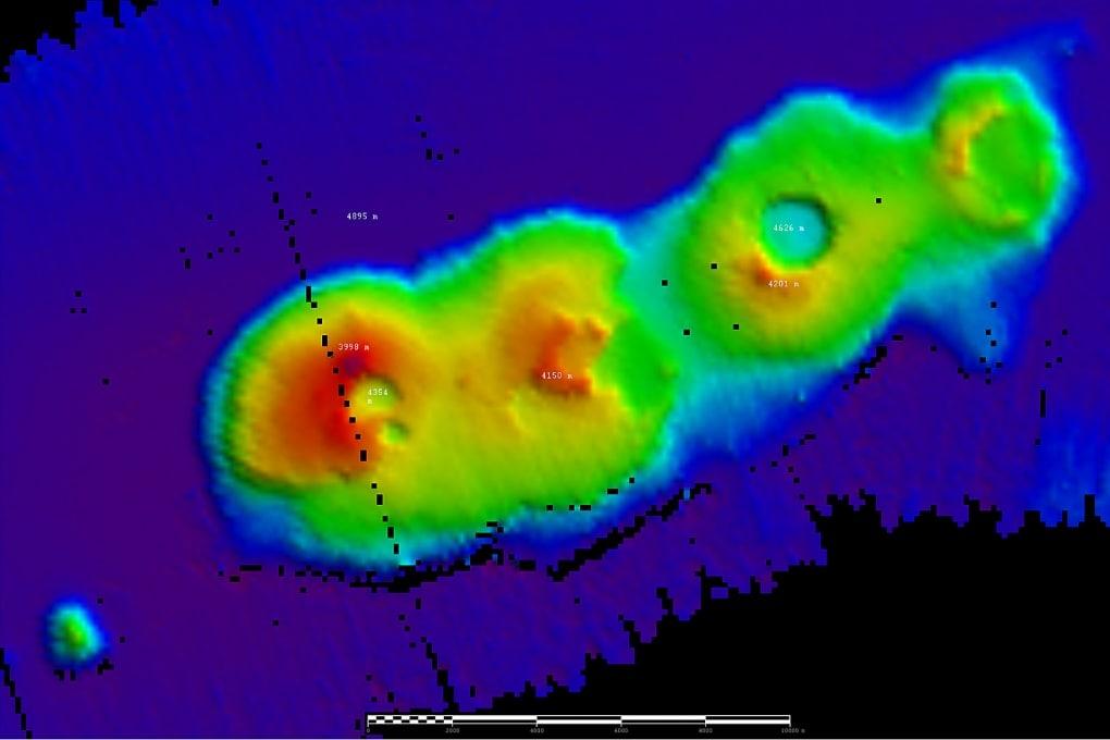 Scoperto un grappolo di vulcani al largo dell'Australia