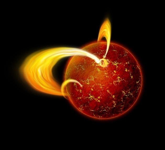 Una stella straordinariamente magnetica