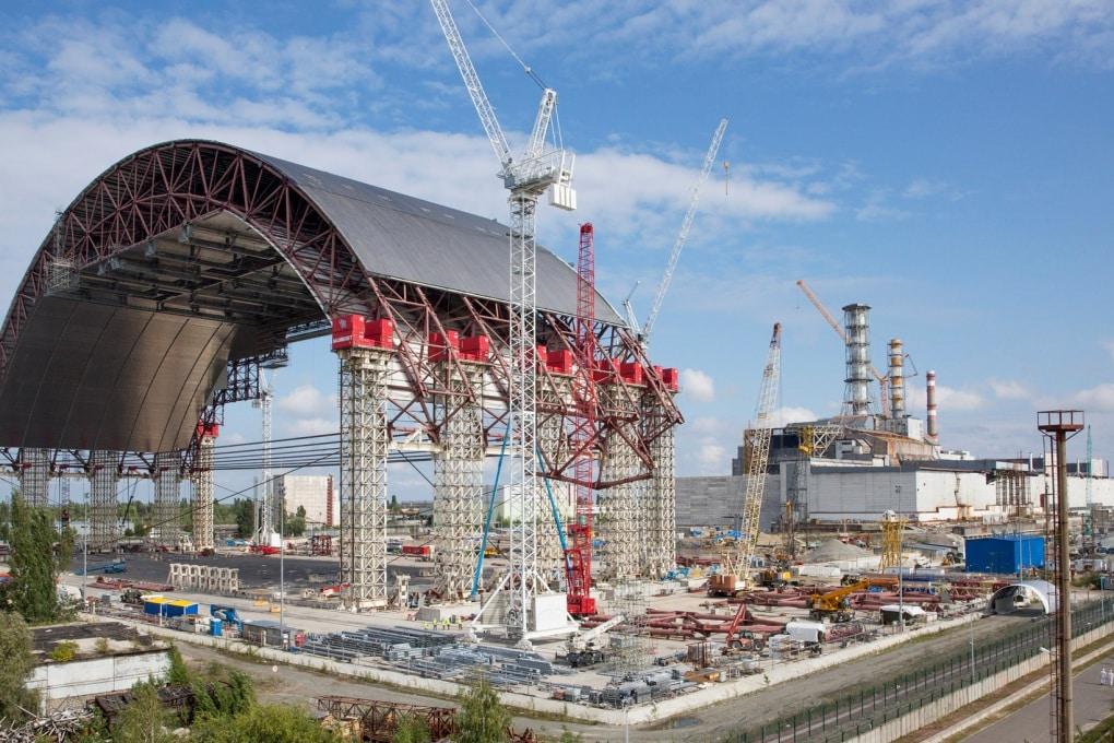 Il sarcofago per il reattore di Chernobyl