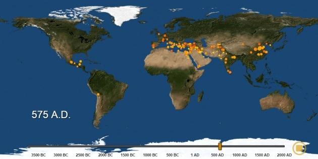 6000 anni di urbanizzazione in tre minuti