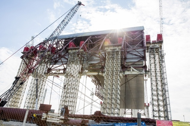 La costruzione del sarcofago di Chernobyl