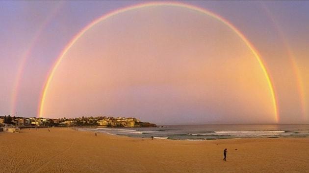 Un meraviglioso doppio arcobaleno a Sydney