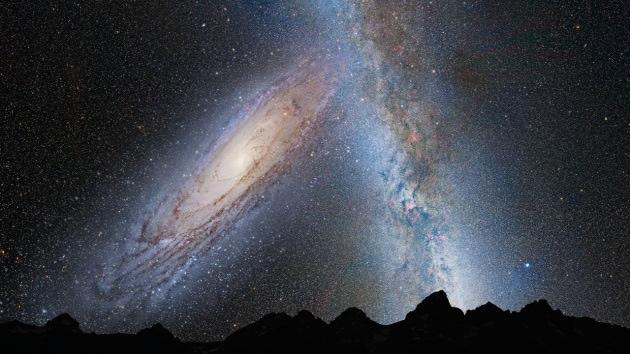 Un disco di materia oscura attraversa la Via Lattea