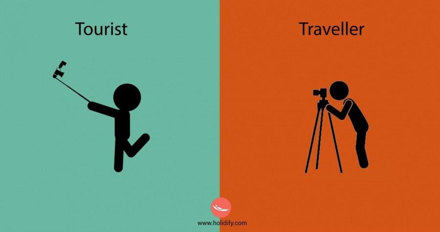 Le differenze tra turisti e viaggiatori