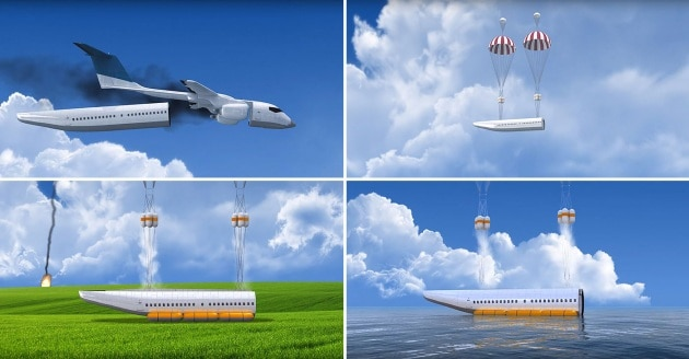L'aereo super-sicuro con la fusoliera che si stacca