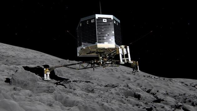 Il video dei rimbalzi di Philae sulla cometa Churyumov-Gerasimenko