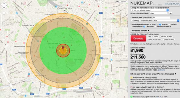 E se la bomba di Hiroshima cadesse su Milano?