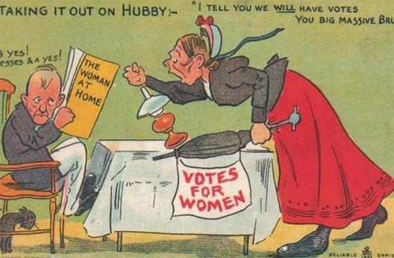 propaganda contro le suffragette