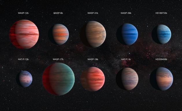Hubble e l'acqua sugli esopianeti gassosi