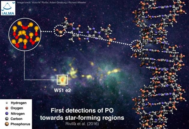 Fosforo e ossigeno tra stelle in formazione