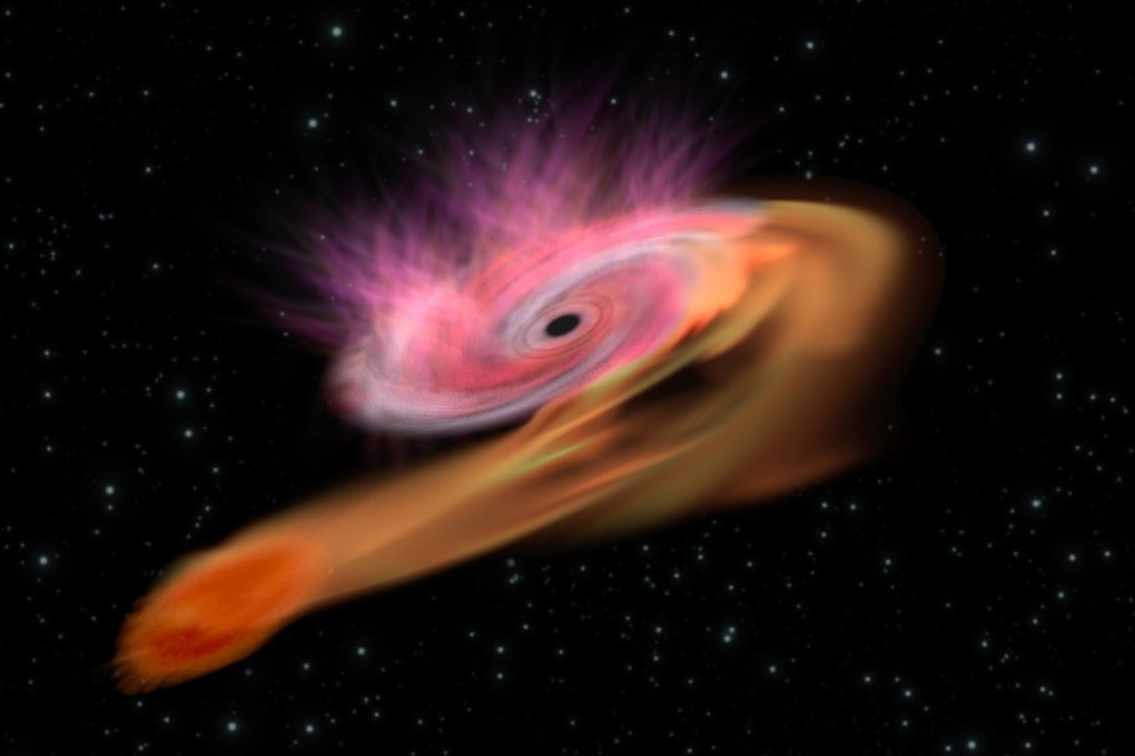 Un bel boccone per il buco nero